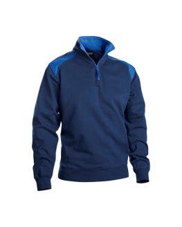 3353 Bluza in 2 culori cu fermoar la guler
